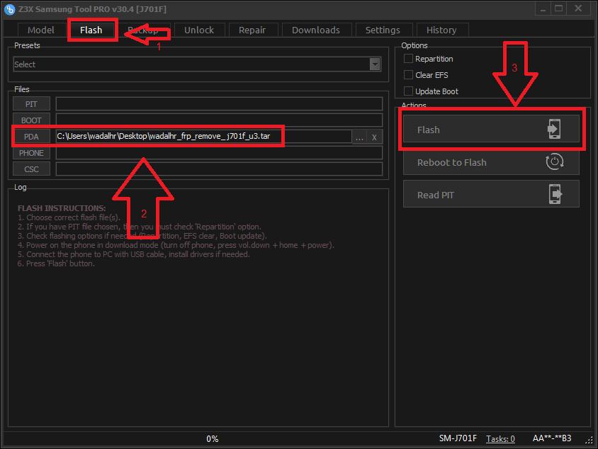 طريقة تخطي حساب جوجل J701F حماية frp remove j701f u3